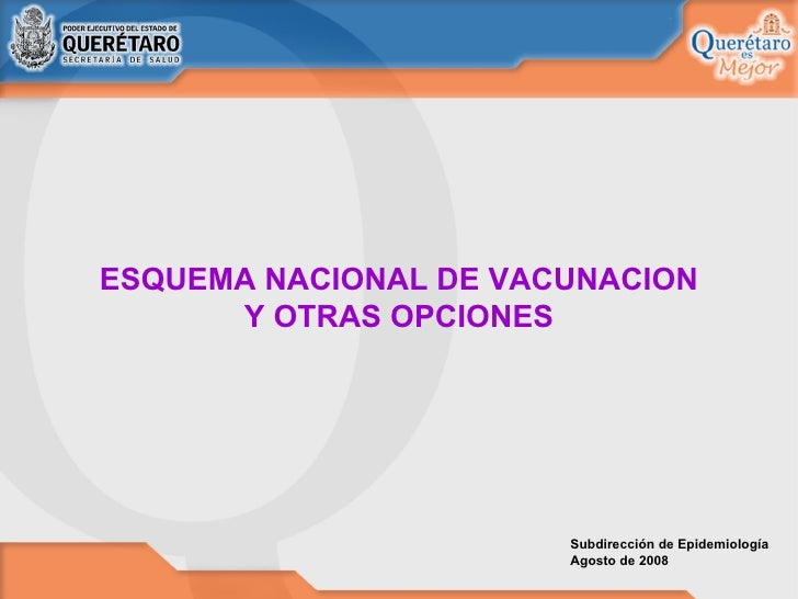 Esquema Nacional De Vacunacion