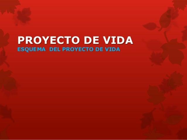 PROYECTO DE VIDAESQUEMA DEL PROYECTO DE VIDA