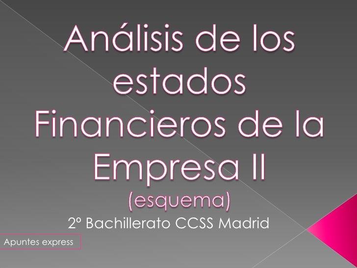 2º Bachillerato CCSS MadridApuntes express