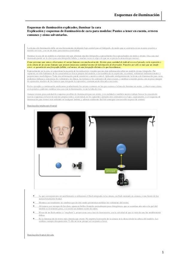 Esquemas de iluminación  1  Esquemas de iluminación explicados, iluminar la cara  Explicación y esquemas de iluminación de...
