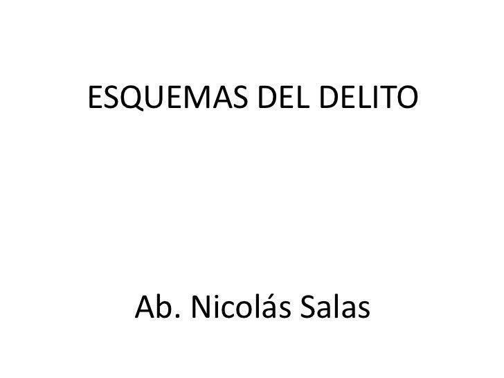 ESQUEMAS DEL DELITO  Ab. Nicolás Salas