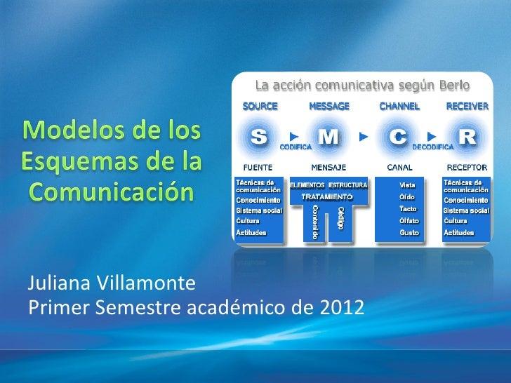 Juliana VillamontePrimer Semestre académico de 2012