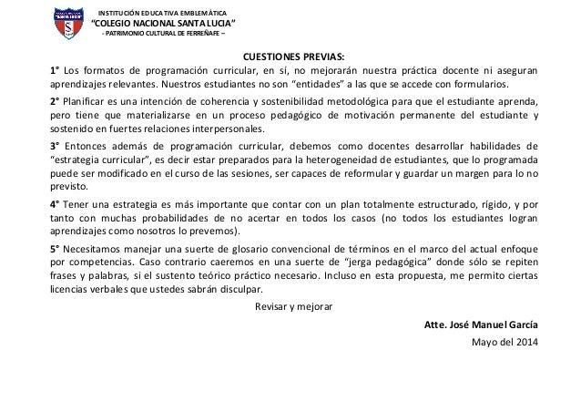 """INSTITUCIÓN EDUCATIVA EMBLEMÁTICA """"COLEGIO NACIONAL SANTA LUCIA"""" - PATRIMONIO CULTURAL DE FERREÑAFE – CUESTIONES PREVIAS: ..."""