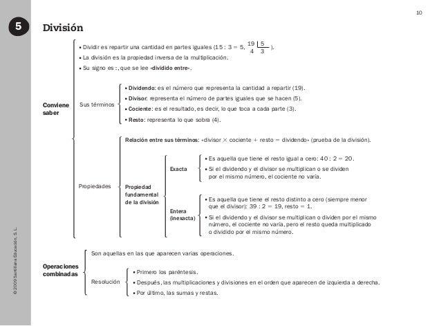 ©2009SantillanaEducación,S.L. 10 División5 Sus términos Exacta Entera (inexacta) Propiedad fundamental de la división Prop...