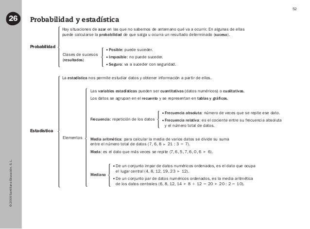 ©2009SantillanaEducación,S.L. 52 Probabilidad y estadística26 Probabilidad Estadística Hay situaciones de azar en las que ...