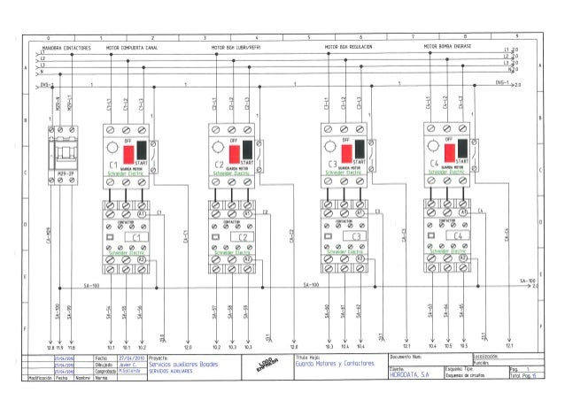 esquemas el u00e9ctricos cuadro servicios auxiliares ch boades