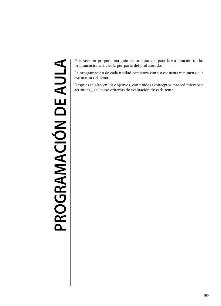Esta sección proporciona guiones orientativos para la elaboración de lasprogramaciÓn de aula   programaciones de aula por ...