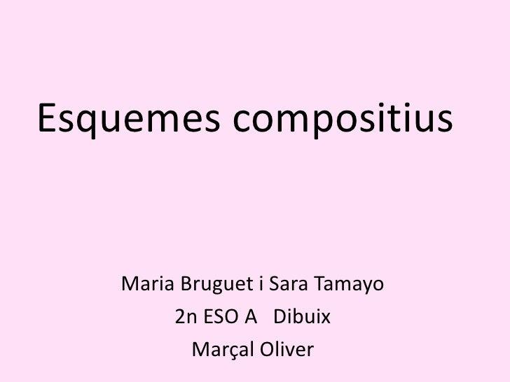 Esquemes compositius<br />Maria Bruguet i Sara Tamayo<br />2n ESO A   Dibuix<br />Marçal Oliver<br />