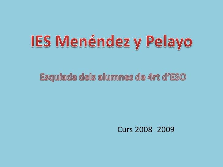 Curs 2008 -2009