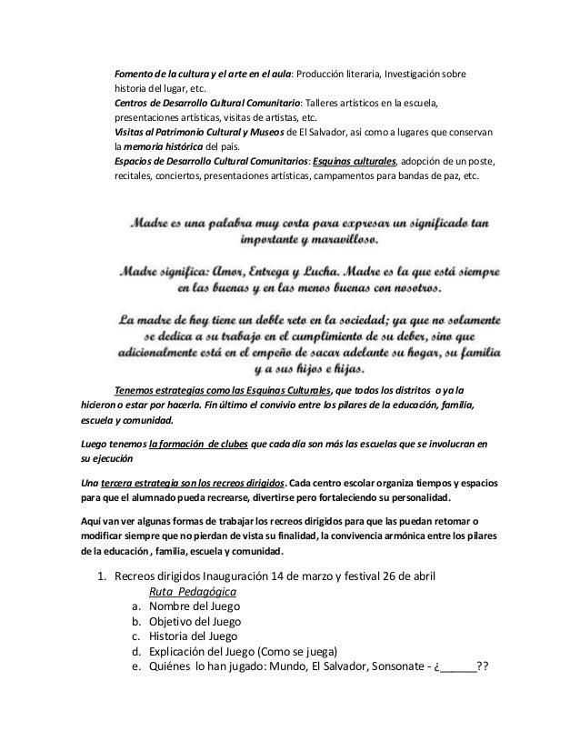Fomento de la cultura y el arte en el aula: Producción literaria, Investigación sobre historia del lugar, etc. Centros de ...