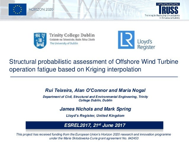 Structural probabilistic assessment of Offshore Wind Turbine operation fatigue based on Kriging interpolation Rui Teixeira...