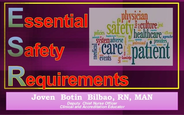 Joven Botin Bilbao, RN, MAN Deputy Chief Nurse Officer Clinical and Accreditation Educator