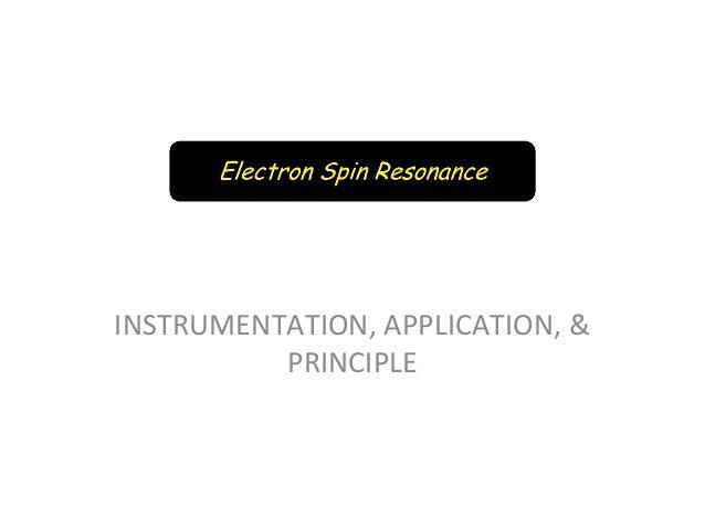 electron spin resonance instrumentation pdf