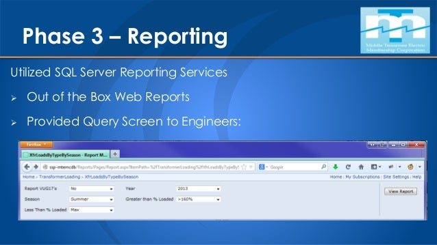 Phase 3 – Visualization  Exposed via ArcGIS Online as a WebMap  Troubleshooter uses their phone or tablet when they arri...