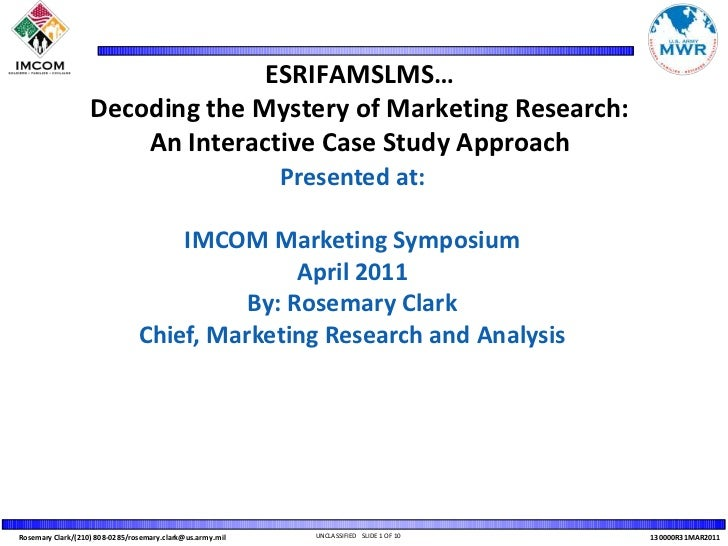 ESRIFAMSLMS… Decoding the Mystery of Marketing Research: An Interactive Case Study Approach<br />Presented at: <br />IMCOM...