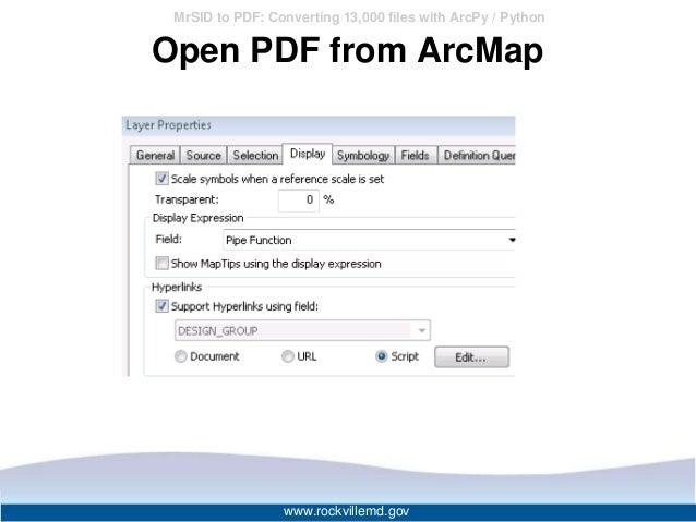 MrSID to PDF: Converting 13000 files with ArcPy / Python