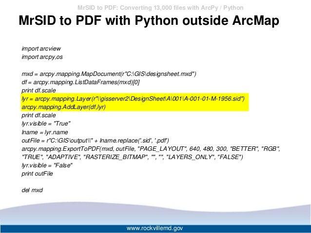 python export mxd to pdf