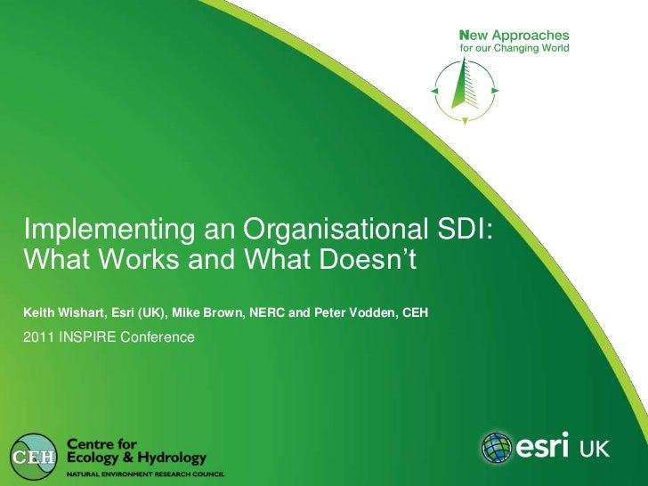 2011 INSPIRE Conference<br />Implementing an Organisational SDI: What Works and What Doesn't<br />Keith Wishart, Esri (UK)...