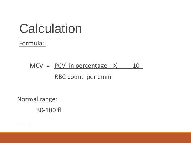 Mcv Calculation Online