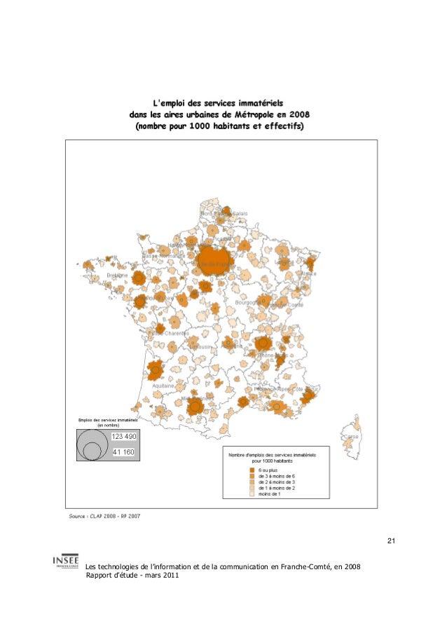 Les technologies de l'information et de la communication en Franche-Comté, en 2008  Rapport d'étude - mars 2011  21