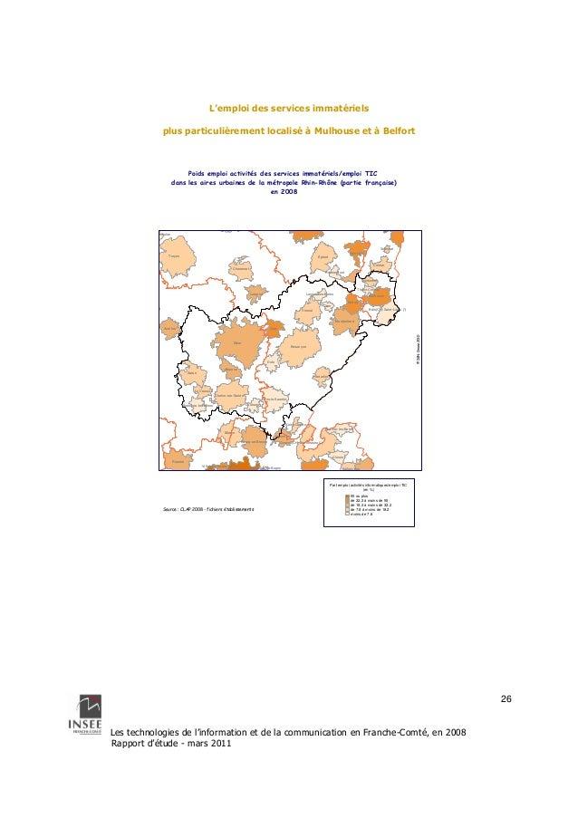 Dijon  Guebwiller  Les technologies de l'information et de la communication en Franche-Comté, en 2008  Rapport d'étude - m...