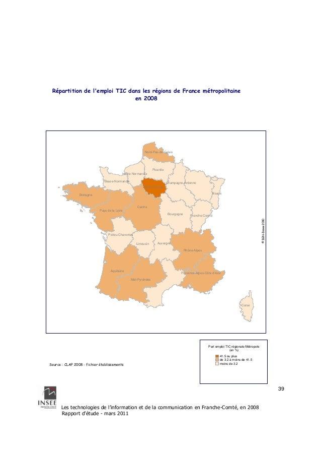 Nord-Pas-de-Calais  Limousin  Les technologies de l'information et de la communication en Franche-Comté, en 2008  Rapport ...