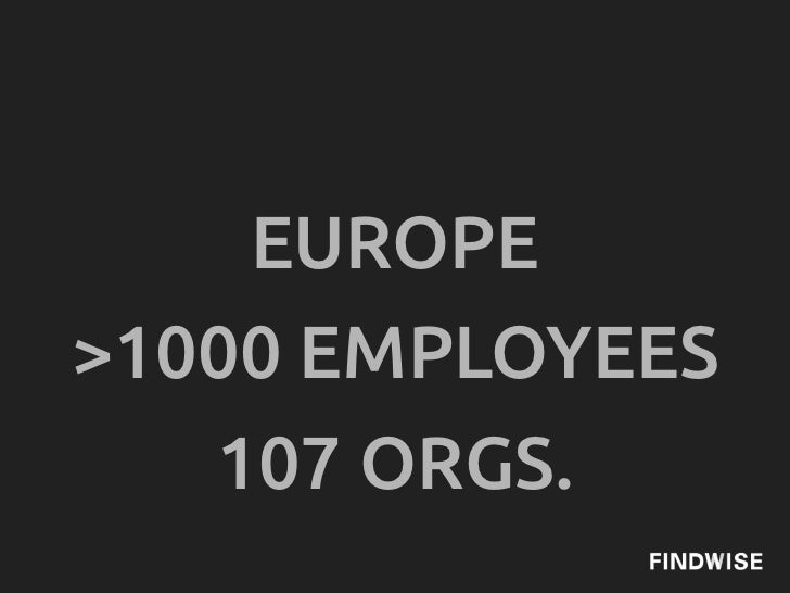 EUROPE>1000 EMPLOYEES   107 ORGS.