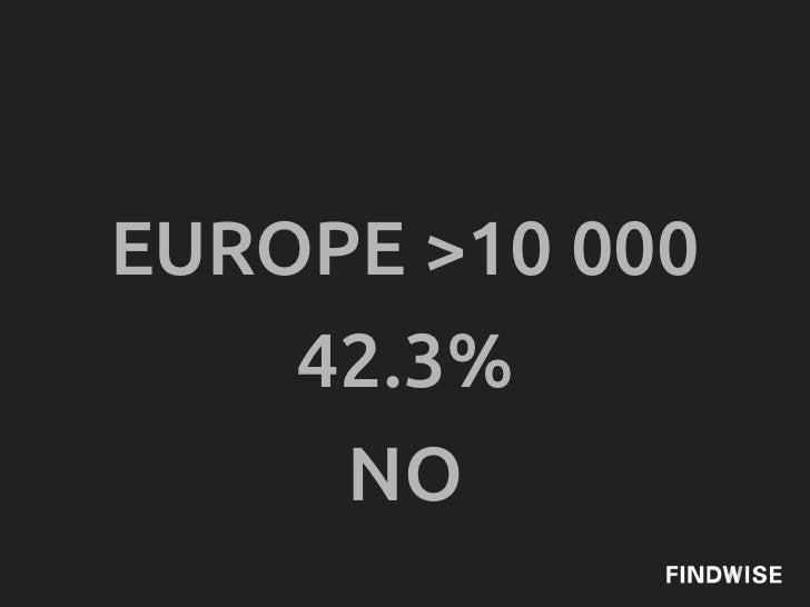 EUROPE >10 000    42.3%     NO
