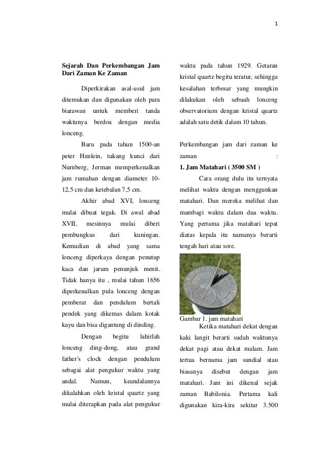 1 Sejarah Dan Perkembangan Jam Dari Zaman Ke Zaman Diperkirakan asal-usul  jam ditemukan dan ... bf5b73af43