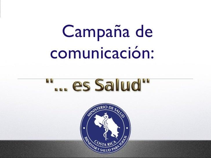 Campaña de comunicación: