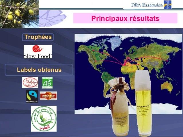 Labels obtenus Trophées Principaux résultats