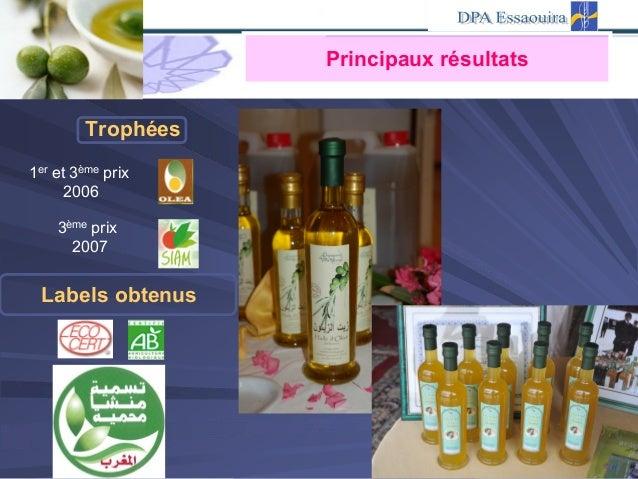 1er et 3ème prix 2006 3ème prix 2007 Labels obtenus Trophées Principaux résultats
