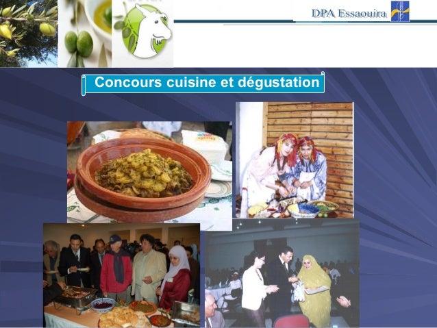 Concours cuisine et dégustation