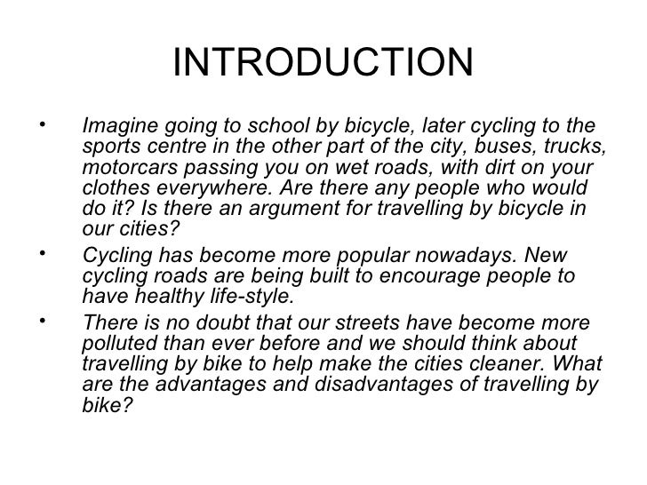Essay on bike riding