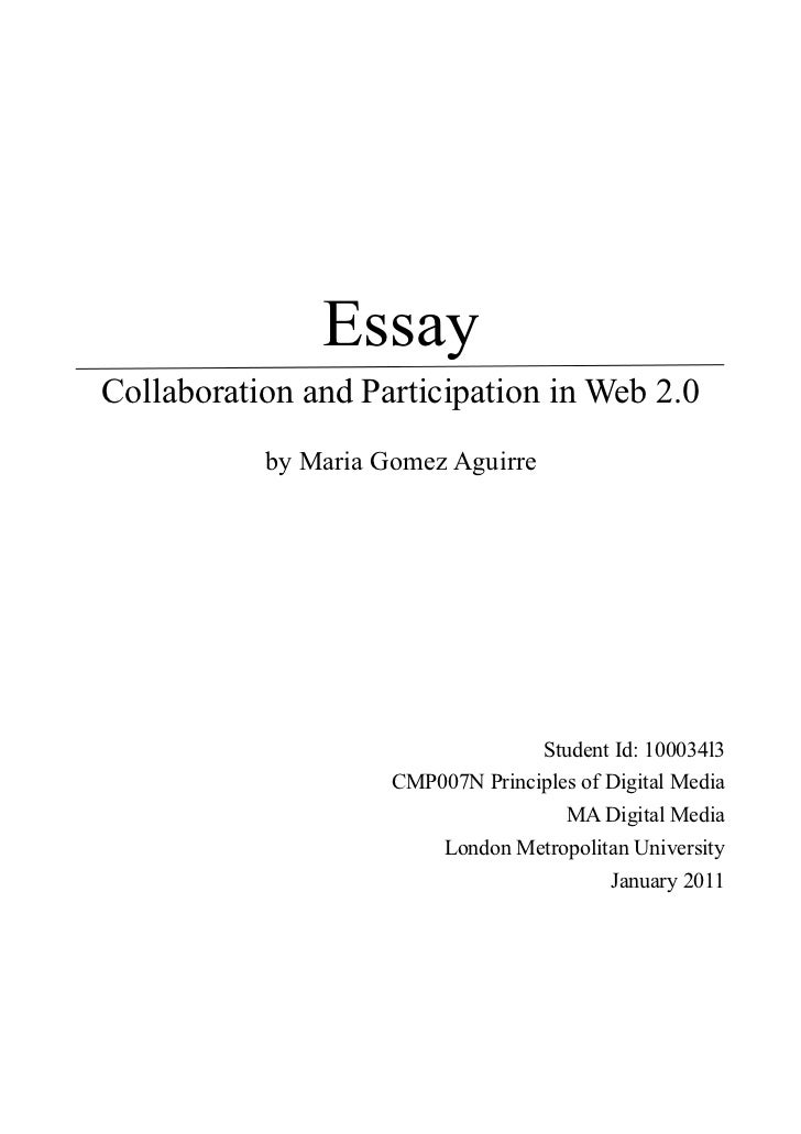 principles of new media essay principles of new media essay essaycollaboration and participation in web 2 0 by maria gomez aguirre