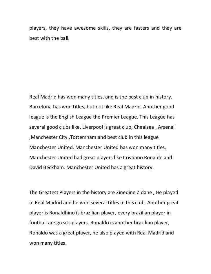 Introduction to football essay