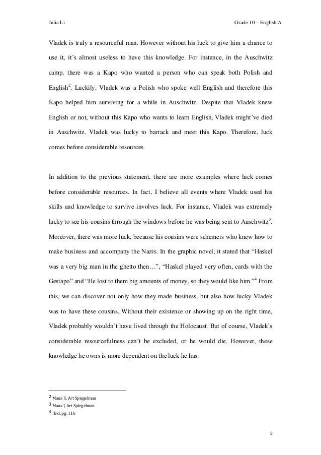 cloudstreet essay luck
