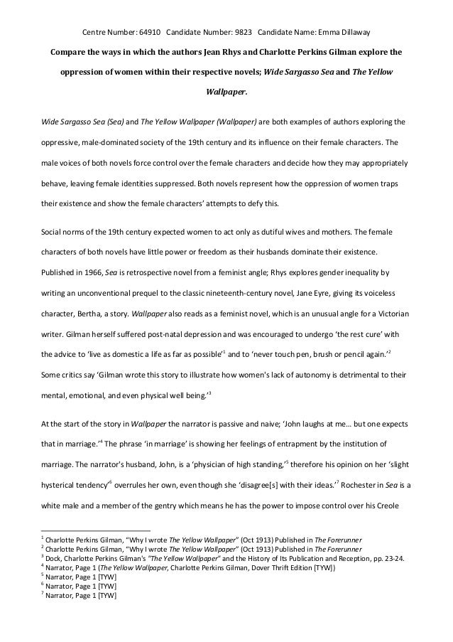 the yellow wallpaper analysis essay