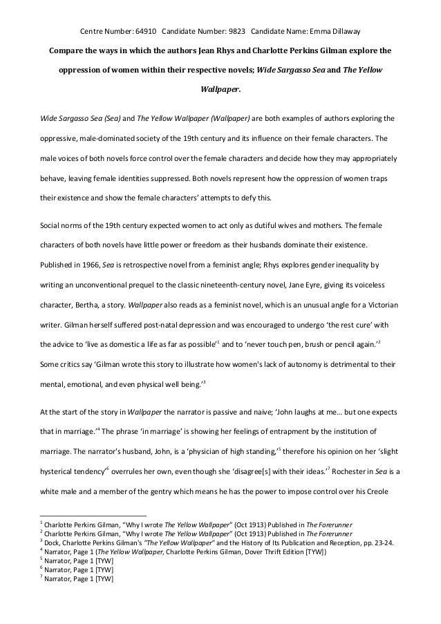 the yellow wallpaper essay feminism