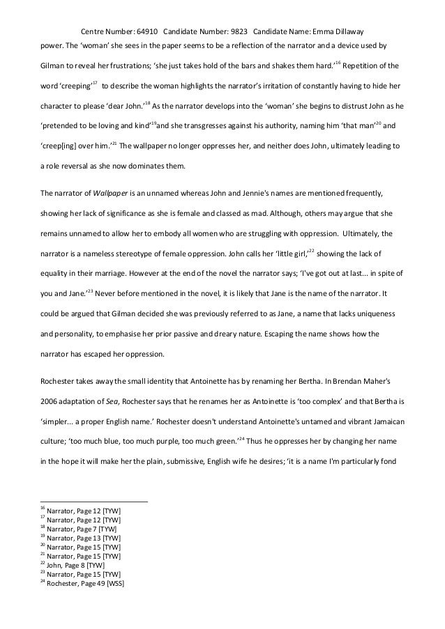 Sample Essay Paper  Small Essays In English also English Narrative Essay Topics The Yellow Wallpaper Character Analysis Essay College Vs High School Essay