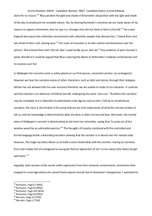Compare And Contrast Essay About High School And College   English Literature Essays also Essay Of Science Wide Sargasso Seathe Yellow Wallpaper Oppression Of Women Essay Paper Topics