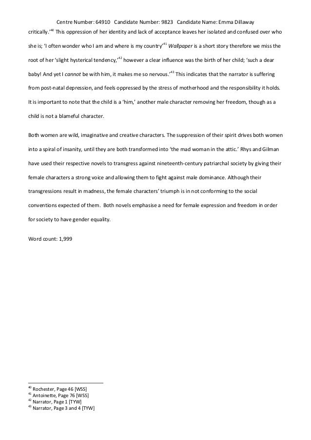 yellow wallpaper essay