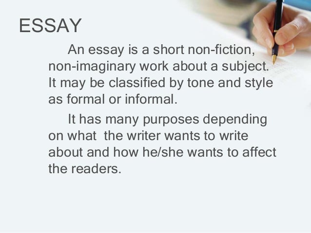 an introduction to essay its parts and kinds essay