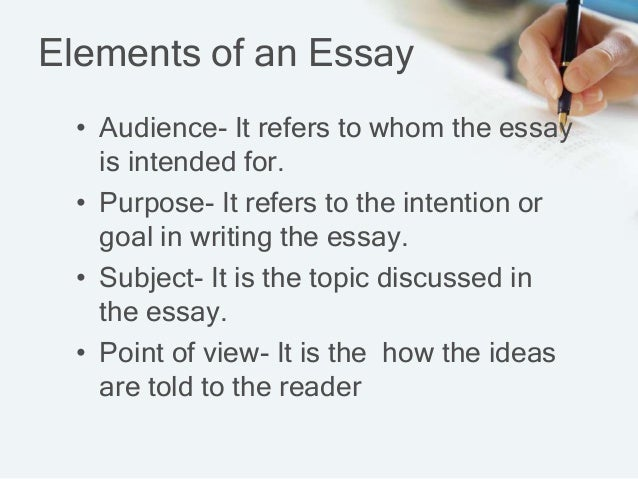 elements for essay Visual elements can aid the reader in comprehending an essay if they are formatted properly in this lesson, you'll learn how to appropriately.