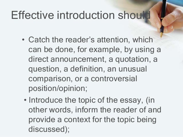 kinds of essay with example