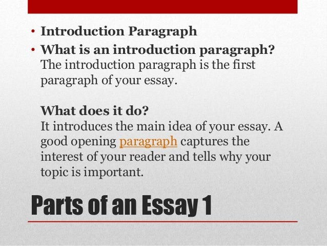 TYPES OF AN ESSAY