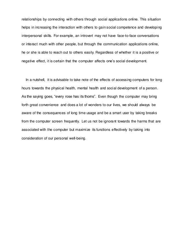 essay  extend social 3 relationships