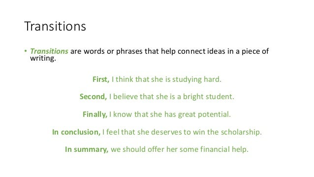 essay paragraph transitions