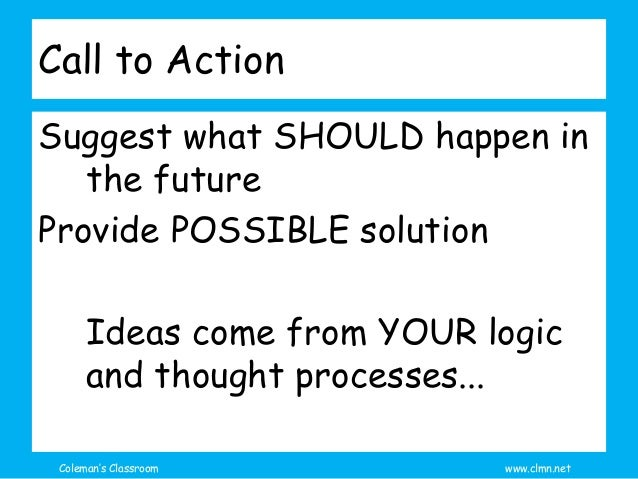 call to action conclusion