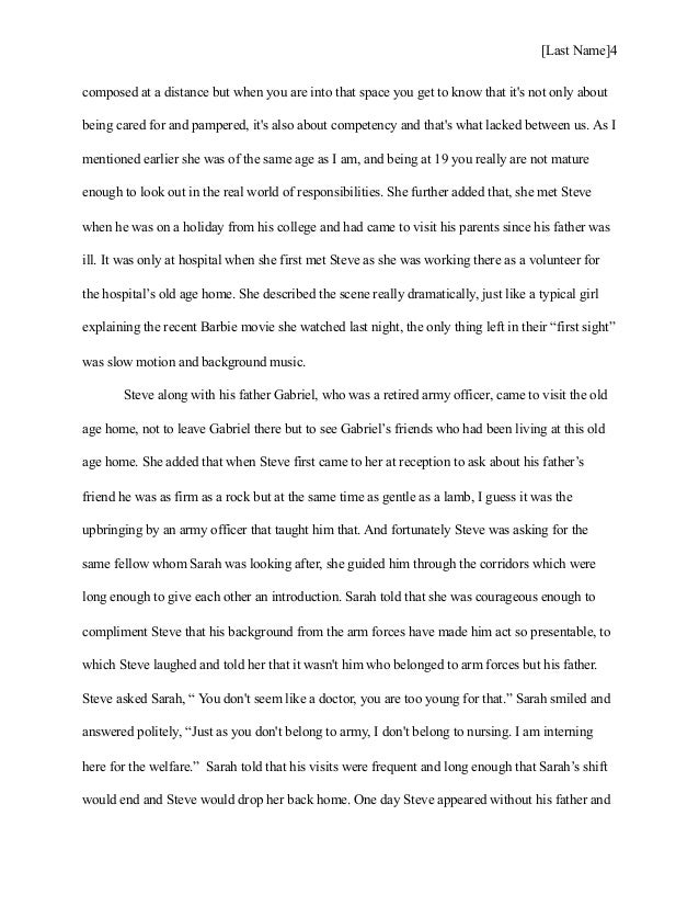essay on my visit to an old age home